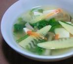 春の香りの具沢山中華スープ