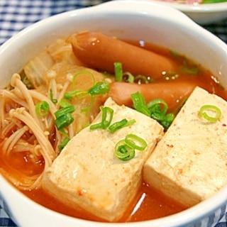 節約おかず◎キムチ豆腐煮