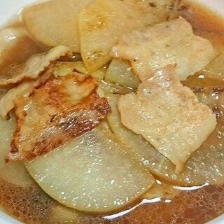 大根と豚バラの炒め煮  もう1品のおツマミに