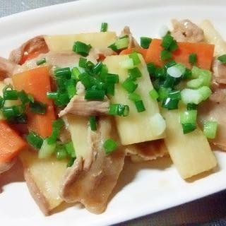 豚バラ肉と長芋と人参のスタミナ炒め++