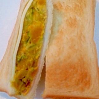 かぼちゃのチーズサンド