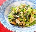 煎りじゃこと油揚げと小松菜の炒め物