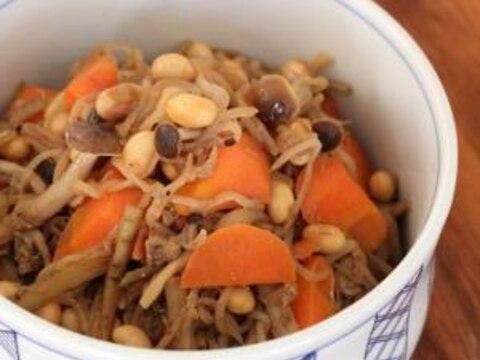 和食の定番♪大豆の五目煮