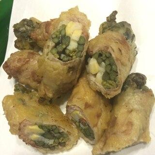 ★わらびと竹の子の豚肉巻き★天ぷら
