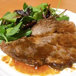 【超かんたん】安いお肉で絶品ステーキ✨