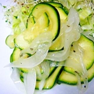 ズッキーニと玉ねぎのサラダ