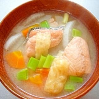 秋鮭のお味噌汁