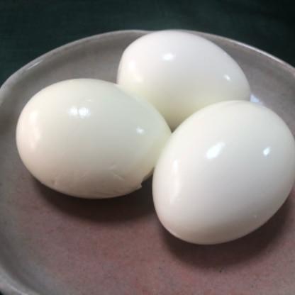 時短で省エネ、そして殻もきれいに剥けて、言うことなしですね! ゆで卵はこの作り方がいいと思いました。