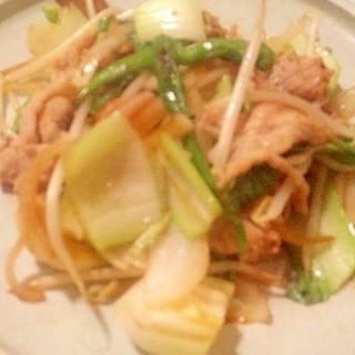 青とうがらしでビリ辛! 豚肉と青梗菜炒め