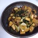 厚揚げでボリュームUP☆かぶと挽肉の味噌炒め