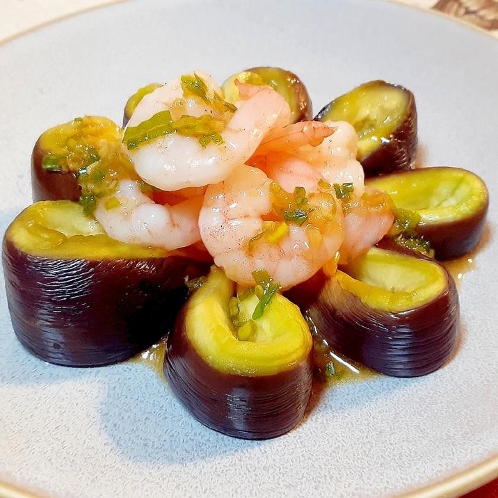 冷製茄子と海老の薬味タレ❗お飾り人気ウケ❗