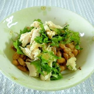 納豆と鶏ハムの簡単中華おつまみ♪