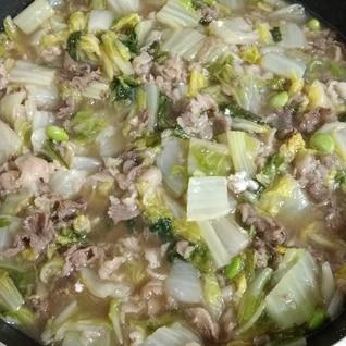牛肉と白菜で、なんちゃって八宝菜