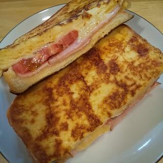 簡単♡トマトハムチーズのクロックムッシュ
