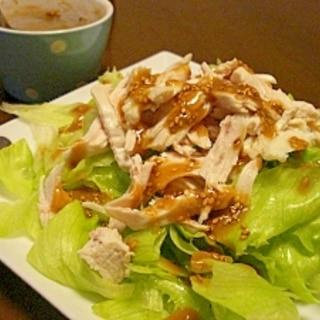 鶏むね肉が激安のときにいただくレタスサラダ