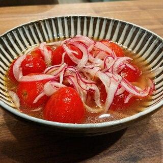 トマトと玉ねぎのさっぱりマリネ