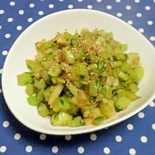 カリフラワーの茎と葉の中華炒め