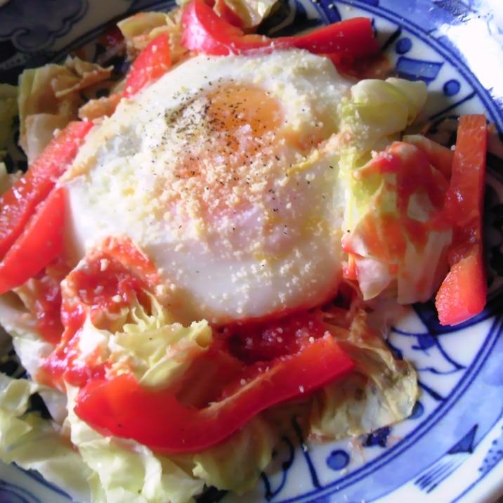 朝食に★巣籠り卵