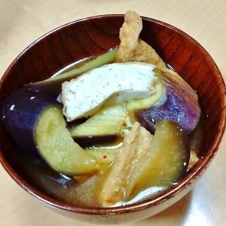 茄子と厚揚げののピリ辛味噌煮込み