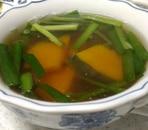 にらとかぼちゃの和風スープ