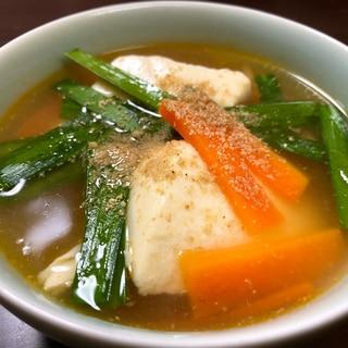 辛くない!豆腐のチゲスープ