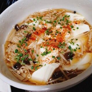簡単♪きのこと豆腐のスープ