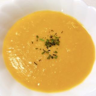 豆乳で簡単に♪ピーナッツかぼちゃのポタージュスープ