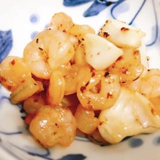 【夫婦のおつまみ】シーフードミックスのバター醤油
