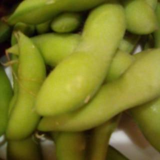 冷凍枝豆の塩茹で