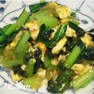 簡単♪小松菜と卵の中華風あんかけ