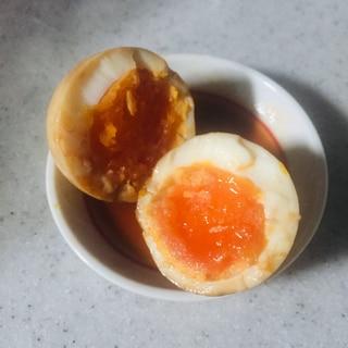 ソース味の煮卵