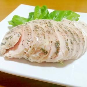 【低温調理】サラダチキンのバジルペッパー