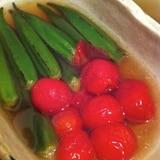 オクラとトマトの煮浸し