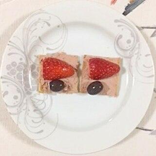 クラッカーのデザート