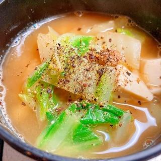 コク旨!白菜と豆腐の胡麻みそスープ