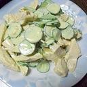 塩鶏ときゅうりのサラダ
