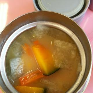 冬瓜とかぼちゃと人参のスープジャー味噌汁