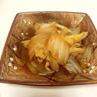 白菜と玉ねぎの煮浸し♪