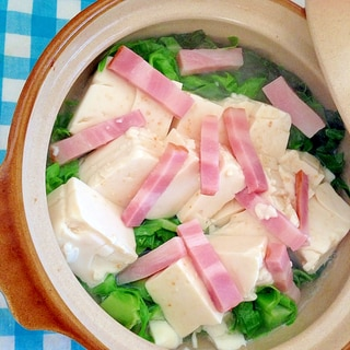 キャベツ&ベーコン&豆腐のコンソメ煮♡