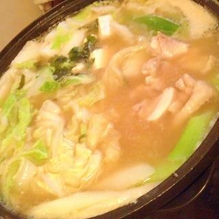 味噌味の寄せ鍋