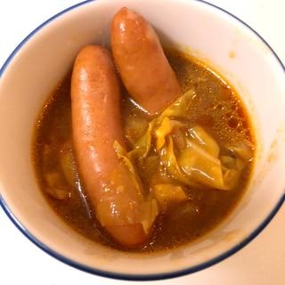 余ったデミグラスソースで、キャベツのスープ♪