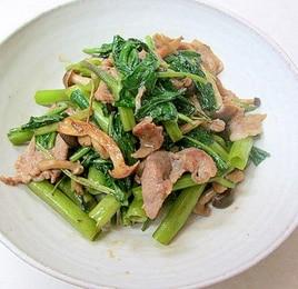 *豚肉と空芯菜のシンプル炒め*