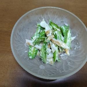 四角豆(ウリズン豆)とカニカマのマヨポン和え