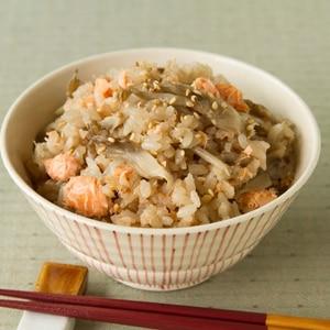 鮭の炊き込み飯 Salmon Mixed Rice