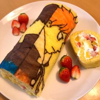 華やか!パータデコールロールケーキ♪