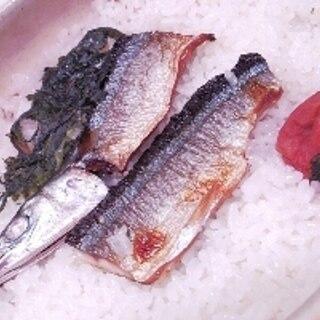 土鍋で簡単、焼き秋刀魚梅ご飯