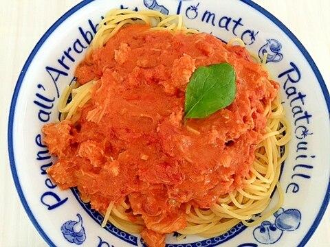 簡単だけど美味しいカニのトマトクリームパスタ♪