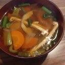 揚げとさつまいも&小松菜のお味噌汁
