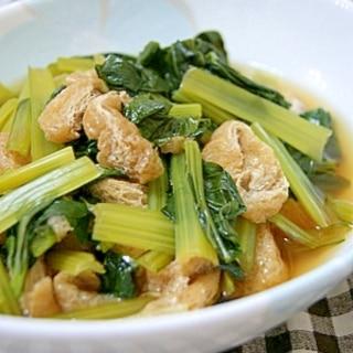 健康レシピ◎減塩◎小松菜とうすあげのさっと煮