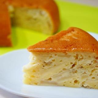 炊飯器で簡単!バナナとりんごのケーキ